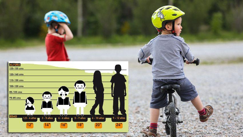 Escolhe o tamanho ideal para a bicicleta do teu filho. Esta tabela irá ajudar-te.