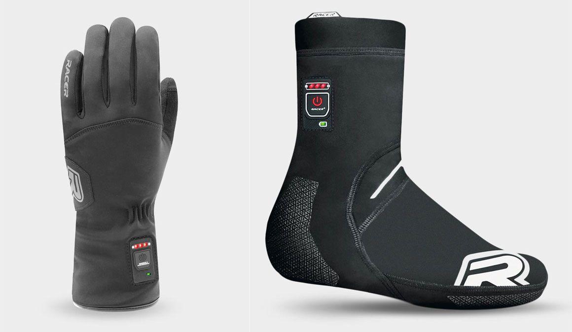 Racer: luvas e capas para sapatos aquecidas