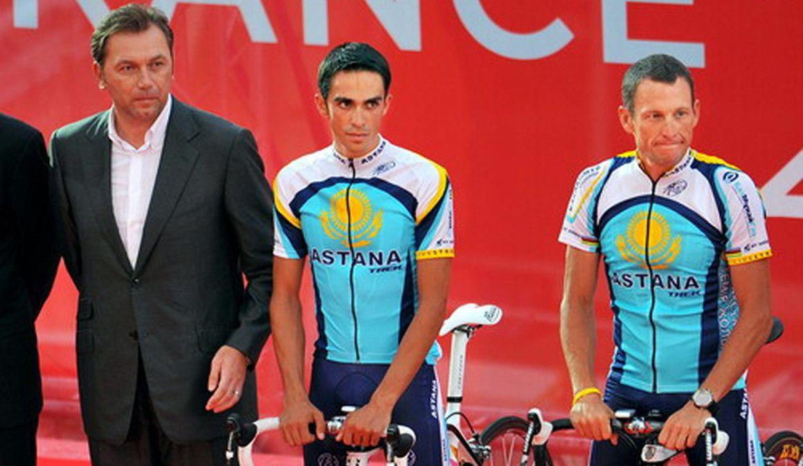 Está instalada a polémica entre Bruyneel e Alberto Contador