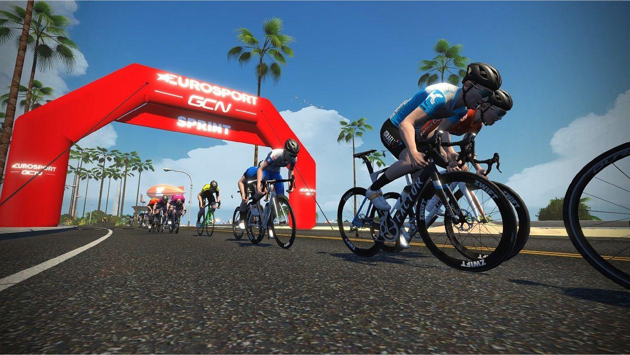 Ciclismo (virtual), em direto, de regresso ao Eurosport