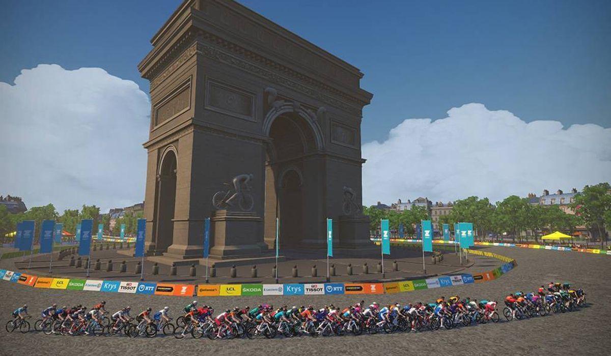 Volta a França virtual no Zwift