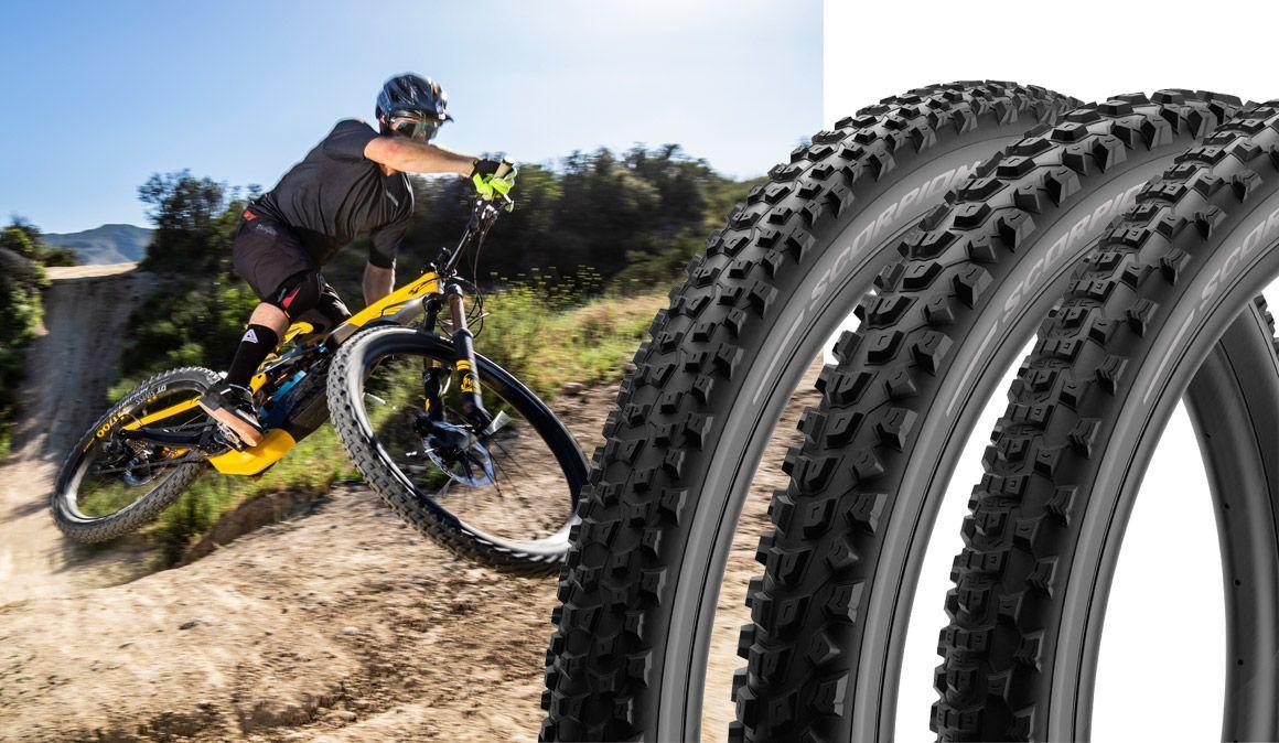 Pneus Pirelli Scorpion e-MTB. A primeira coleção para e-bikes
