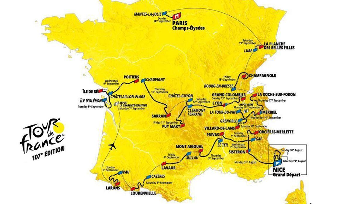 Exclusivo: percurso e etapas da Volta a França