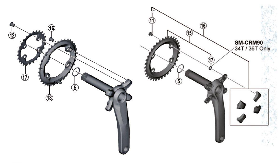 Queres mudar a cremalheira do teu pedaleiro Shimano? Atenção à compatibilidade