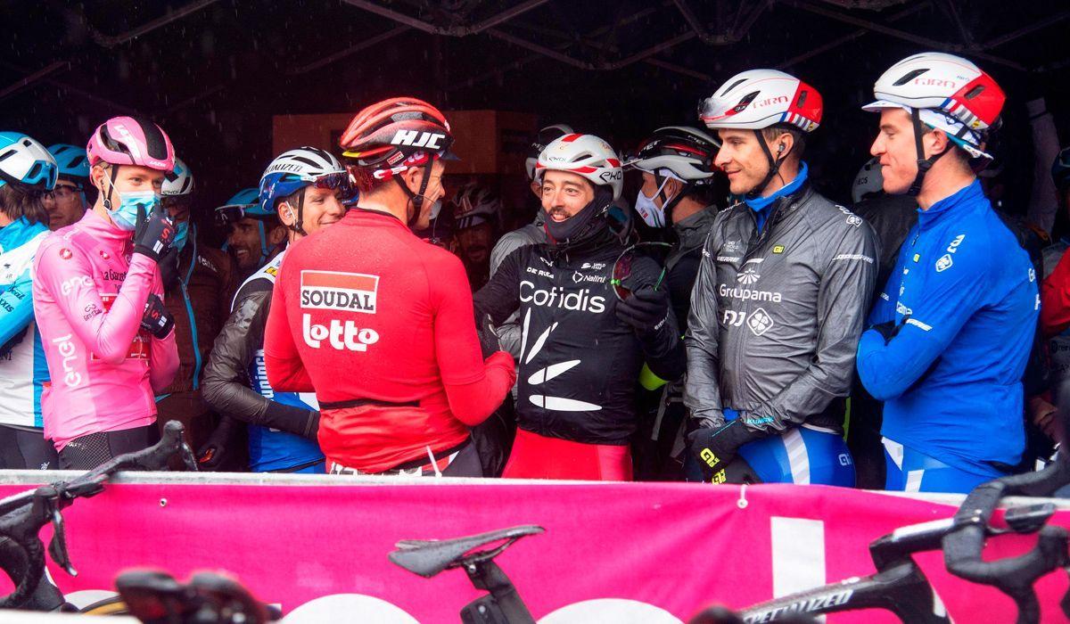 Ciclistas asseguram que o seu protesto no Giro foi para proteger a sua saúde