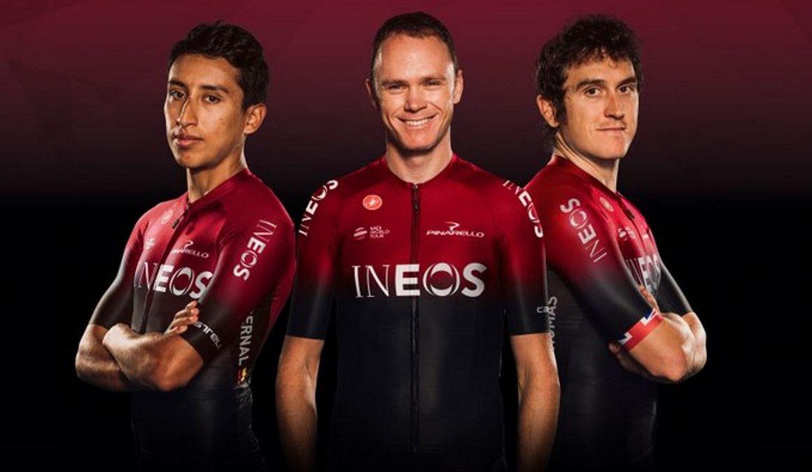 Team Ineos (ex Team Sky) apresentou o novo equipamento