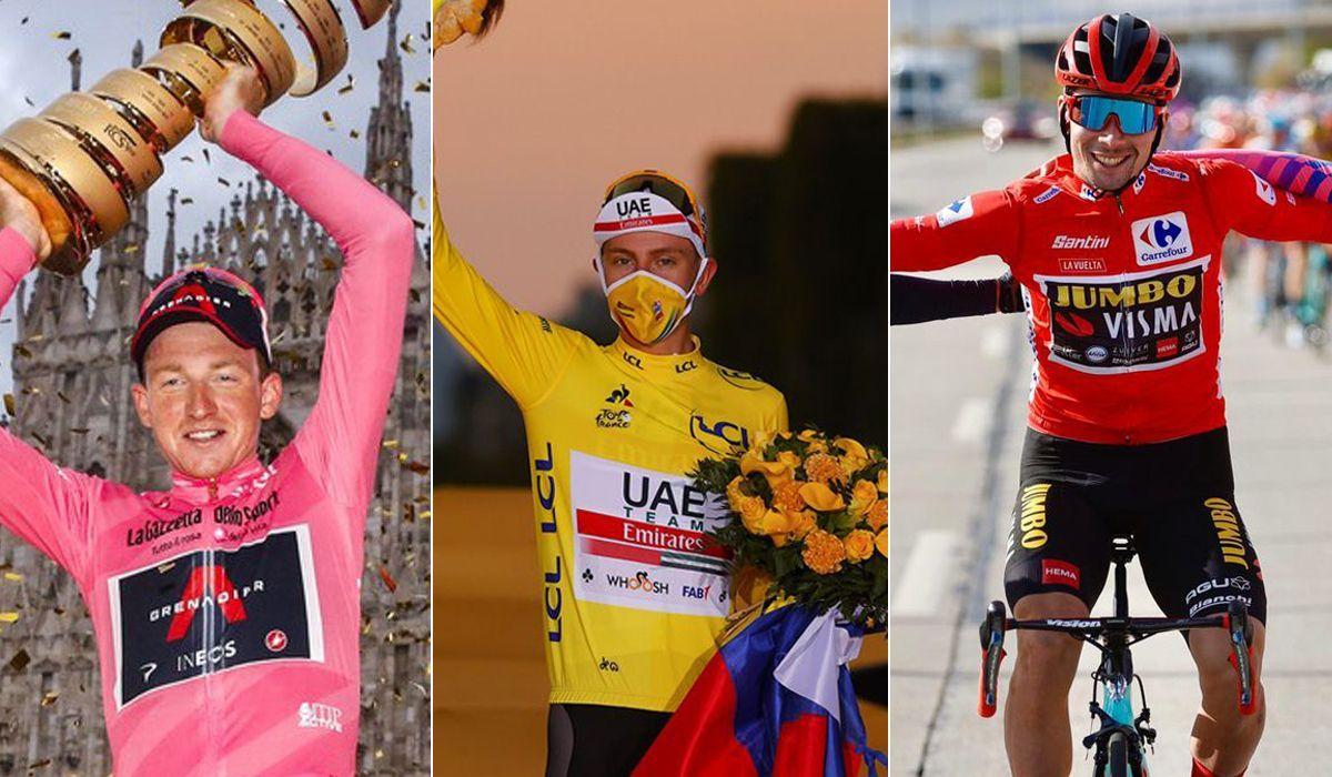 Grandes Voltas: estas serão as principais figuras do Giro, Tour e Vuelta 2021